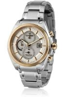 CITIZEN Ca0356-55A Silver/White Chronograph Watch