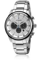 CITIZEN Ca4034-50A Silver/White Chronograph Watch