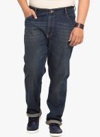 John Pride Blue Low Rise Regular Fit Jeans