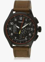 Timex T2p276-Sor Brown/Black Chronograph Watch