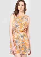 Vero Moda Orange Printed Jumpsuit