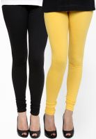 Pannkh Black/Yellow Solid Legging