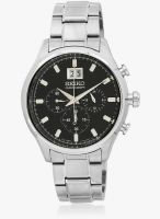 Seiko SPC083P1-S Silver/Black Chronograph Watch