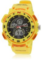 Fluid Fs200-Yl01 Yellow/Black Analog & Digital Watch