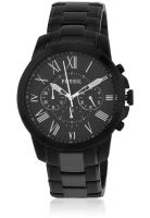 Fossil Fs4832 Black/Black Chronograph Watch