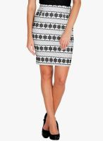 Mayra White Pencil Skirt
