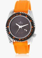 Maxima Attivo Collection Orange/Black Analog Watch