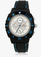 Maxima Hybrid Collection Black/White Analog Watch