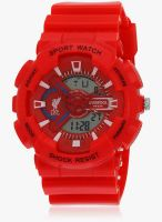 Liverpool Lfc-Ind-Anw-005 Red/Red Digital Watch
