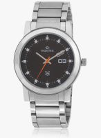 Maxima Attivo Collection Silver/Black Analog Watch