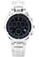 CITIZEN Eco Drive Bl7110-51L Silver/Blue Chronograph Watch