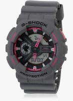 Casio G-Shock Ga-110Ts-8A4dr Grey/Black Analog & Digital Watch