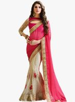 Swaron Pink Embroidered Saree