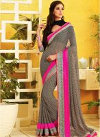 Vishal Black Printed Saree