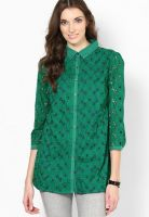 Rena Love Green Embroidered Shirt