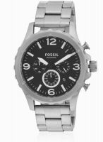 Fossil Jr1468i Silver/Black Chronograph Watch