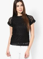 Mayra Black Embroidered Blouse