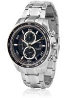 CITIZEN Eco Drive Titanium Ca0346-59L Silver/Blue Chronograph Watch