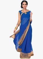 Vishal Blue Embroidered Saree