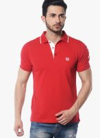 Skookie Red Solid Polo T-Shirts