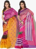 Lookslady Multicoloured Printed Sarees