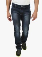 Crimsoune Club Blue Mid Rise Slim Fit Jeans