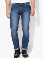 Flying Machine Blue Mid Rise Slim Fit Jeans (Prince)