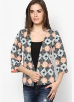 Harpa Orange Printed Shrug