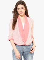 Magnetic Designs Pink Printed Shrug