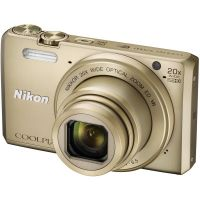 Nikon Coolpix S7000 16MP Point & Shoot Camera - Golden