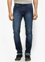 Police Washed Blue Slim Fit Jeans